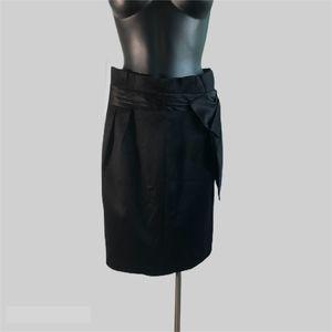 Plastic Island Black Knee High Pencil Skirt Size 8